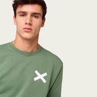 Plain Green Cross Sweatshirt | Bombinate