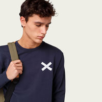 Plain Navy Cross Sweatshirt | Bombinate