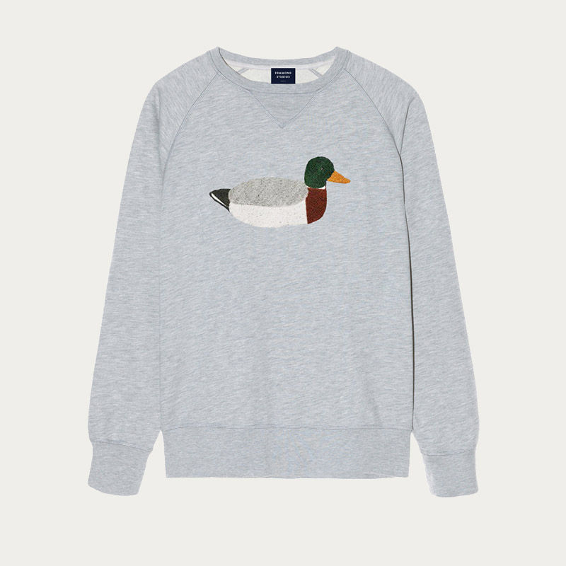Plain Grey Duck Hunt Sweatshirt | Bombinate