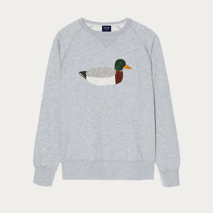 Plain Grey Duck Hunt Sweatshirt   Bombinate