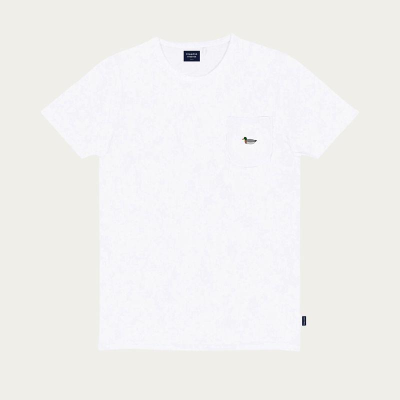 Plain White Duck Patch Tee-shirt | Bombinate