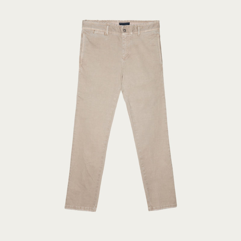 Beige John Chino Summer Pants | Bombinate