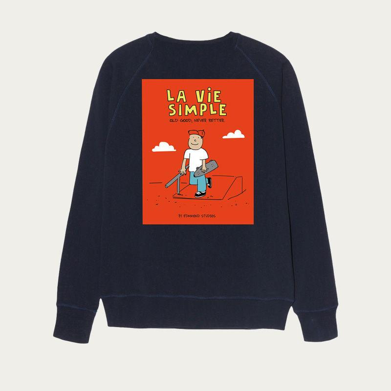 Plain Navy La Vie Simple Sweatshirt | Bombinate