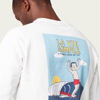 Off-White La Vie Simple Surf Sweatshirt  | Bombinate