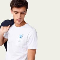 Plain White Palm Tree Tee-shirt   Bombinate