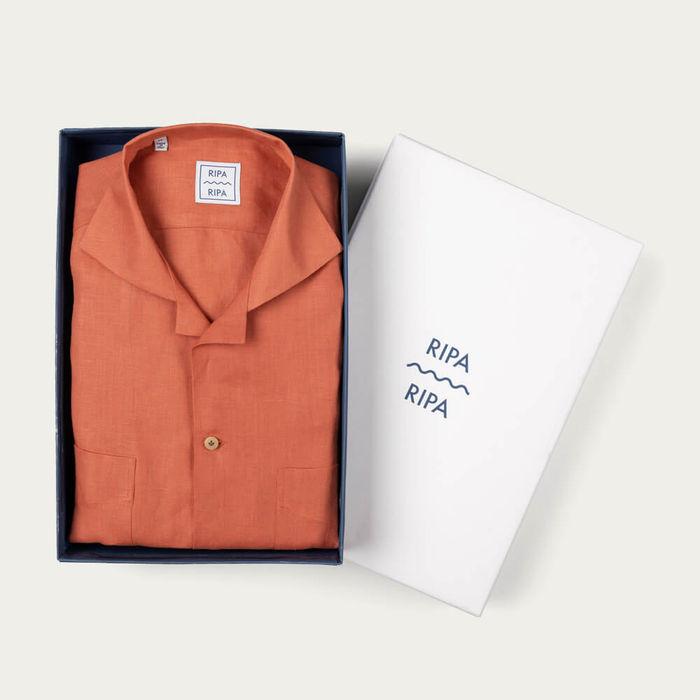 Camicia Ischia Corallo Shirt | Bombinate