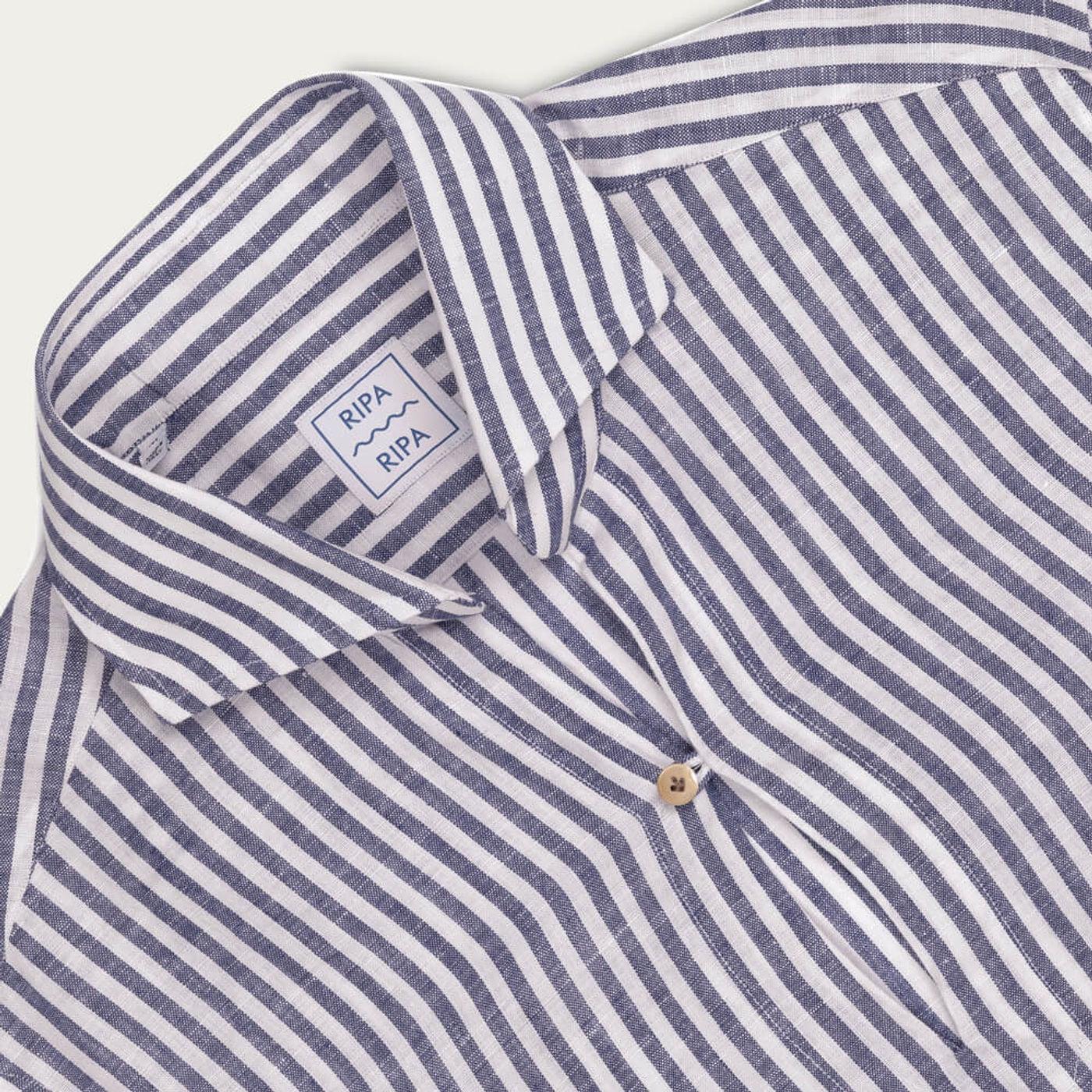 Camicia Capri Righe Larghe Shirt   Bombinate