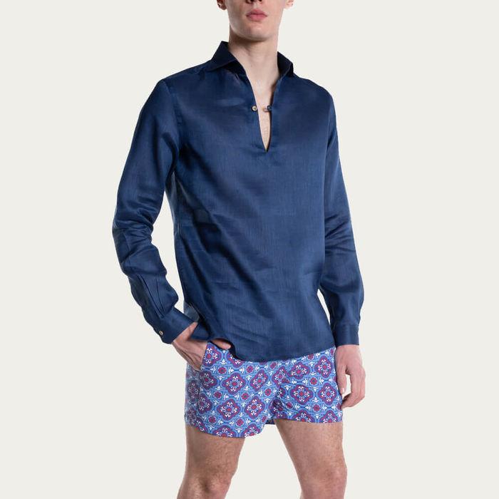 Camicia Capri Blu Notte Shirt | Bombinate