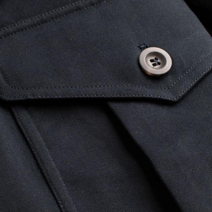 The Navy Belted Safari Jacket  | Bombinate