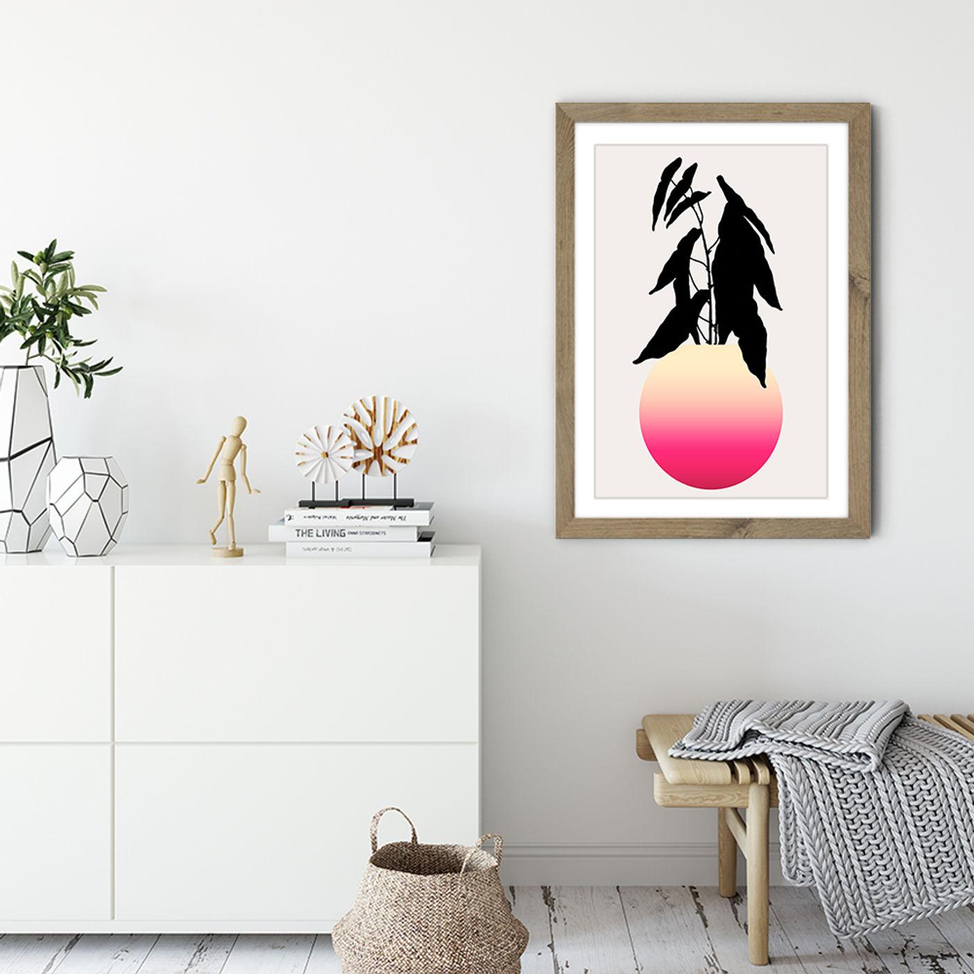 Abstracta No.15 Art Print Oak Frame | Bombinate
