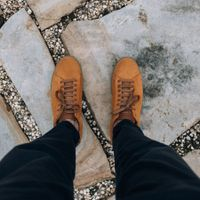 Camel Suede Low Split Sneakers   7