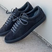 Navy Suede Low Sneakers | Bombinate