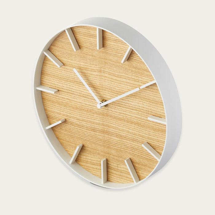 White Rin Wall Clock   Bombinate