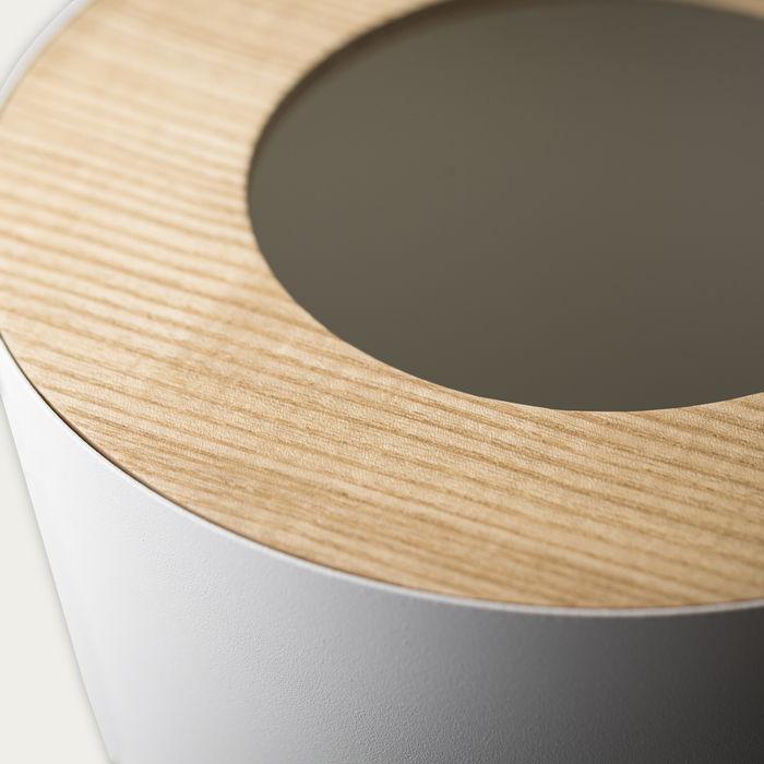 White Rin Round 1.85 Gallon Steel Trash Can | Bombinate
