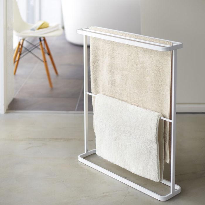 White Tower Standing Bath Towel Hanger | Bombinate