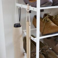 White Tower 6-Tier Wood Top Shoe Rack | Bombinate