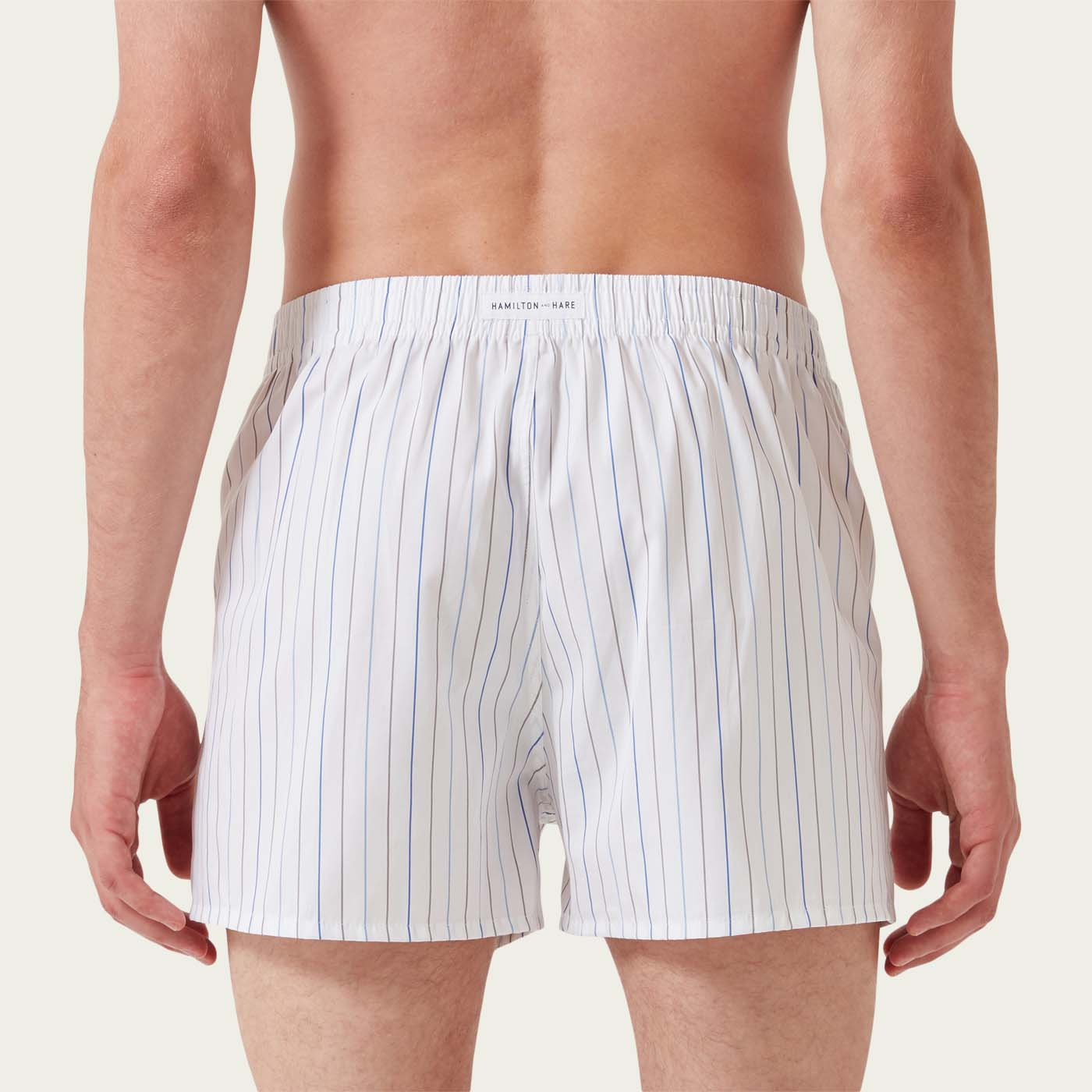 White Stripe Boxer Short  | Bombinate
