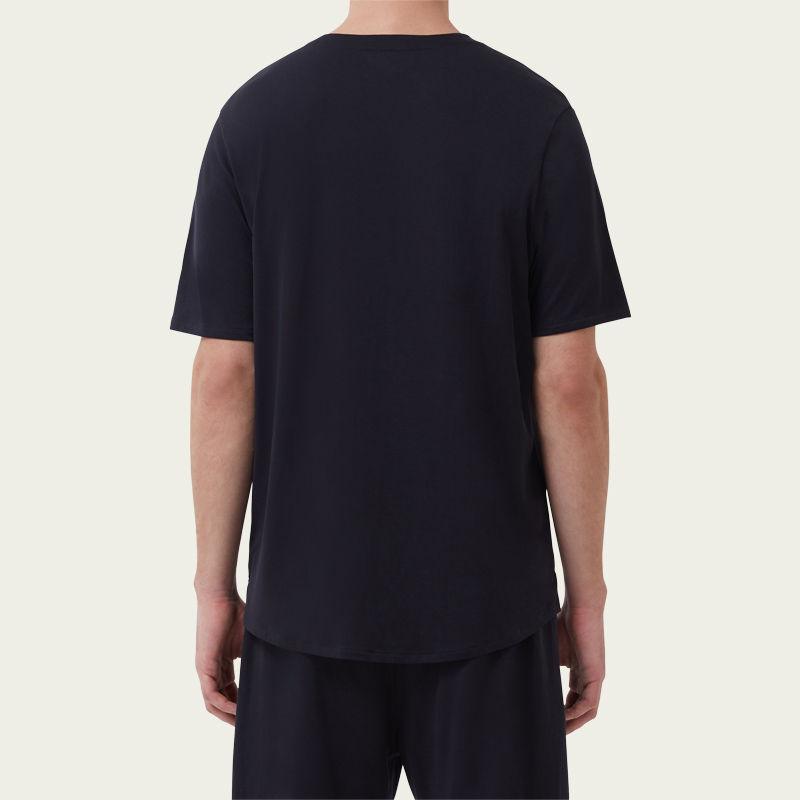 Navy Short Sleeve Jersey Henley Tee-shirt 2