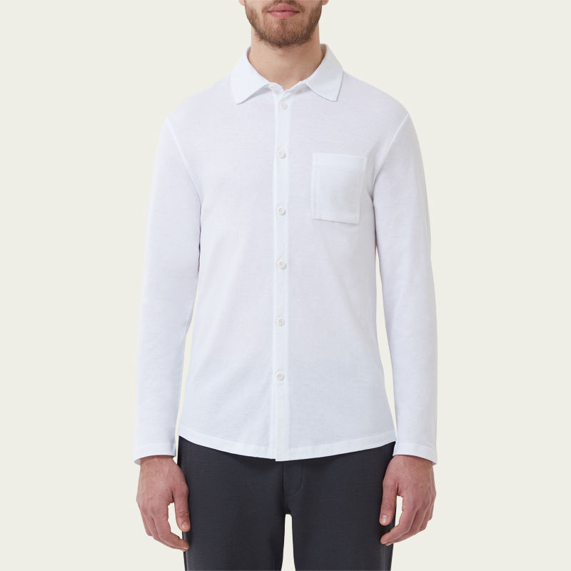 White Slip-On Shirt  | Bombinate