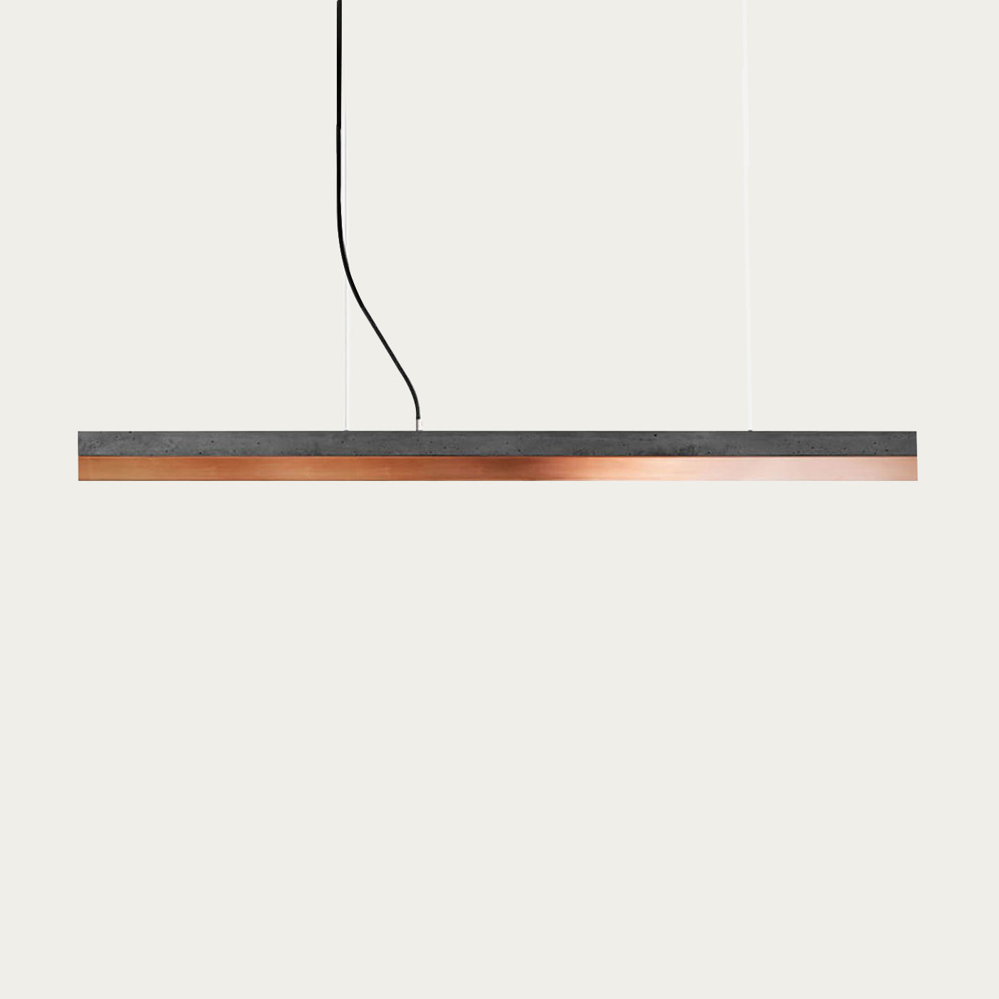 Dark Grey Concrete & Copper Pendant Light   Bombinate