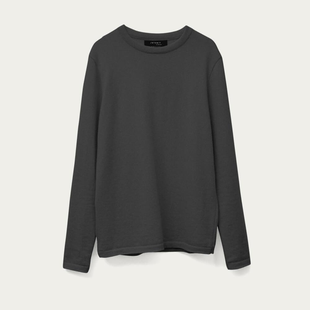 Grey The Round-Neck Cashmere | Bombinate