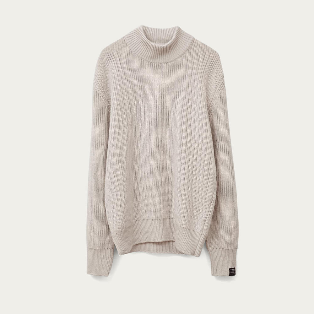 Cream The High-Neck Sweater   Bombinate
