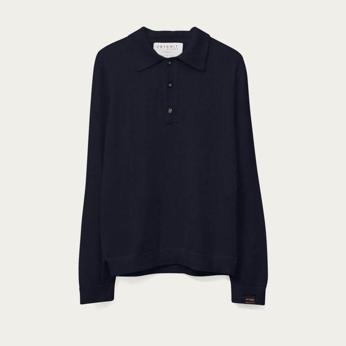 Blue Navy The Knit Polo | Bombinate