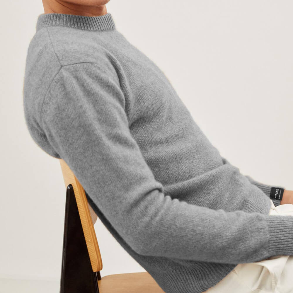 Cold Grey The Eco-Cashmere Sweater | Bombinate