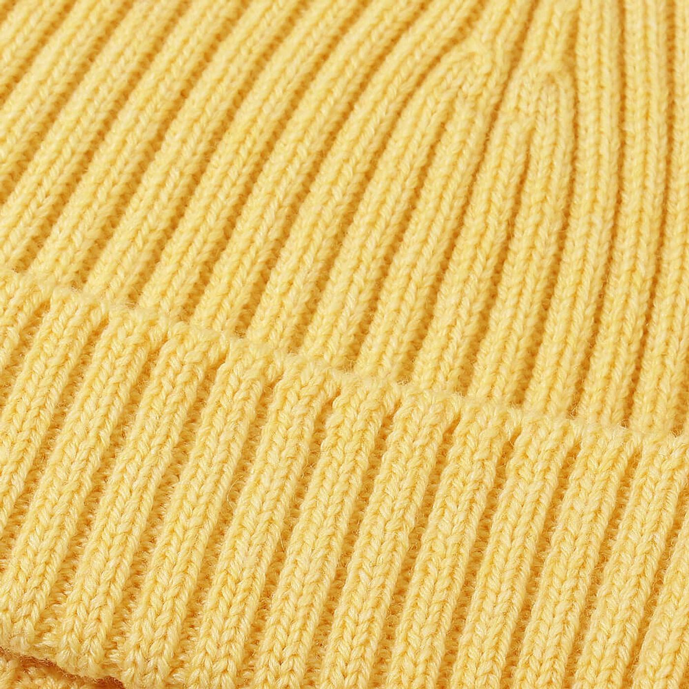 Yellow Extrafine Merino Hat | Bombinate