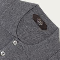 Dark Grey Extrafine Merino Polo | Bombinate