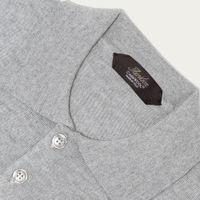 Light Grey Extrafine Merino Polo | Bombinate