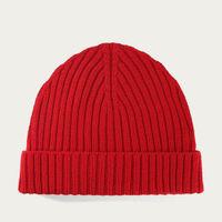 Red Extrafine Merino Hat   Bombinate