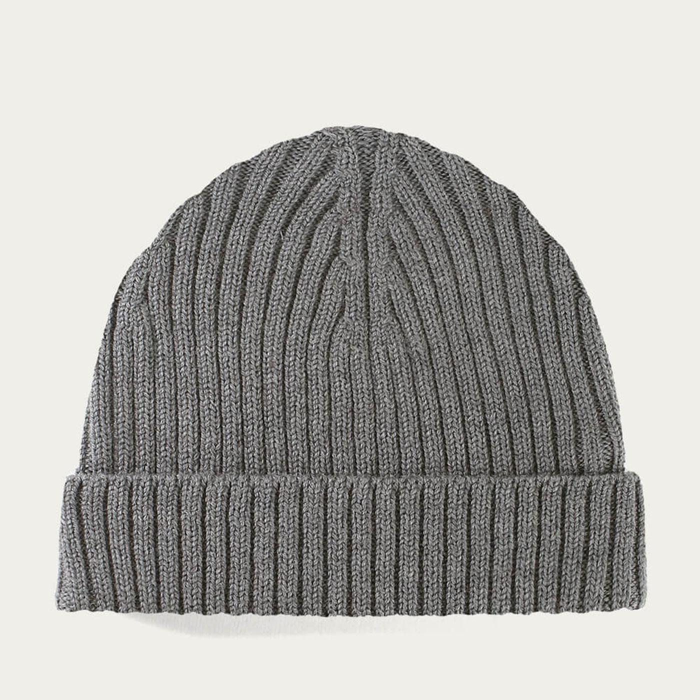 Dark Grey Extrafine Merino Hat | Bombinate