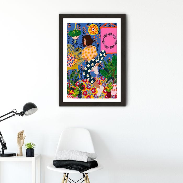 Just Chillin Art Print Black Frame   Bombinate