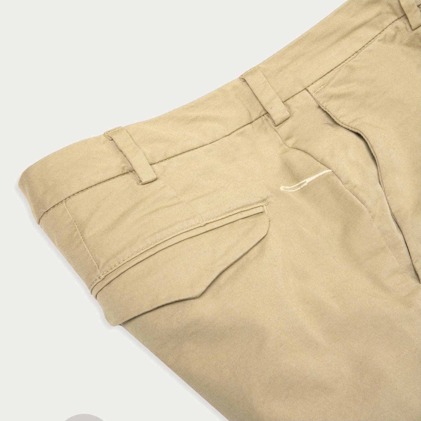 Beige Cotton Gabardine Marais Trousers | Bombinate