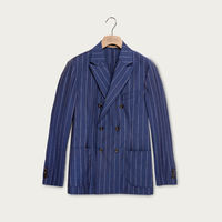 Blue Super 110's Wool Chelsea Jacket | Bombinate