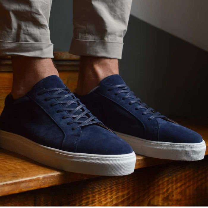 Navy Suede Series 1 Sneakers | Bombinate