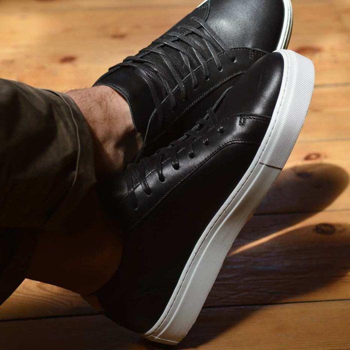 Black Leather Series 1 Sneakers | Bombinate