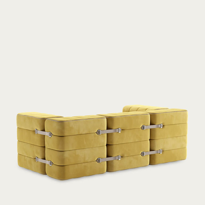 Yellow Curt Sofa System 7 Modules - Barcelona | Bombinate