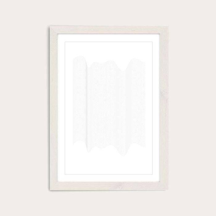 White Frame Waves Art Print | Bombinate