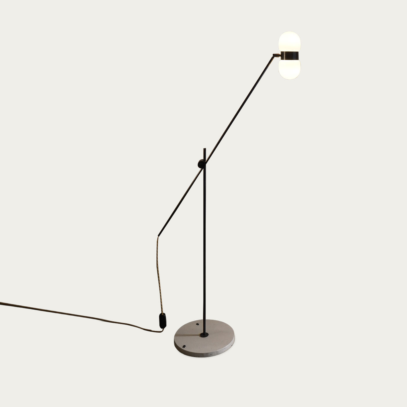 Black Matte/White Terrazzo Nuvol Double Floor Lamp - EU Plug | Bombinate