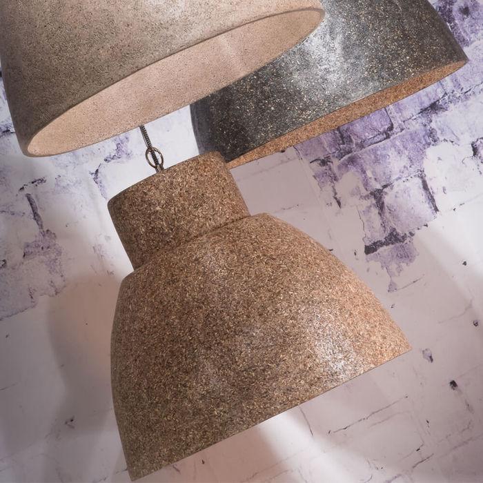 Sand Cebu Woodchips Hanging Lamp   Bombinate