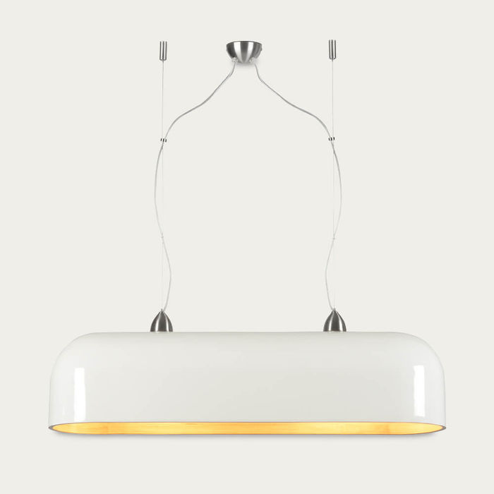 White Halong Bamboo Oval Hanging Lamp | Bombinate