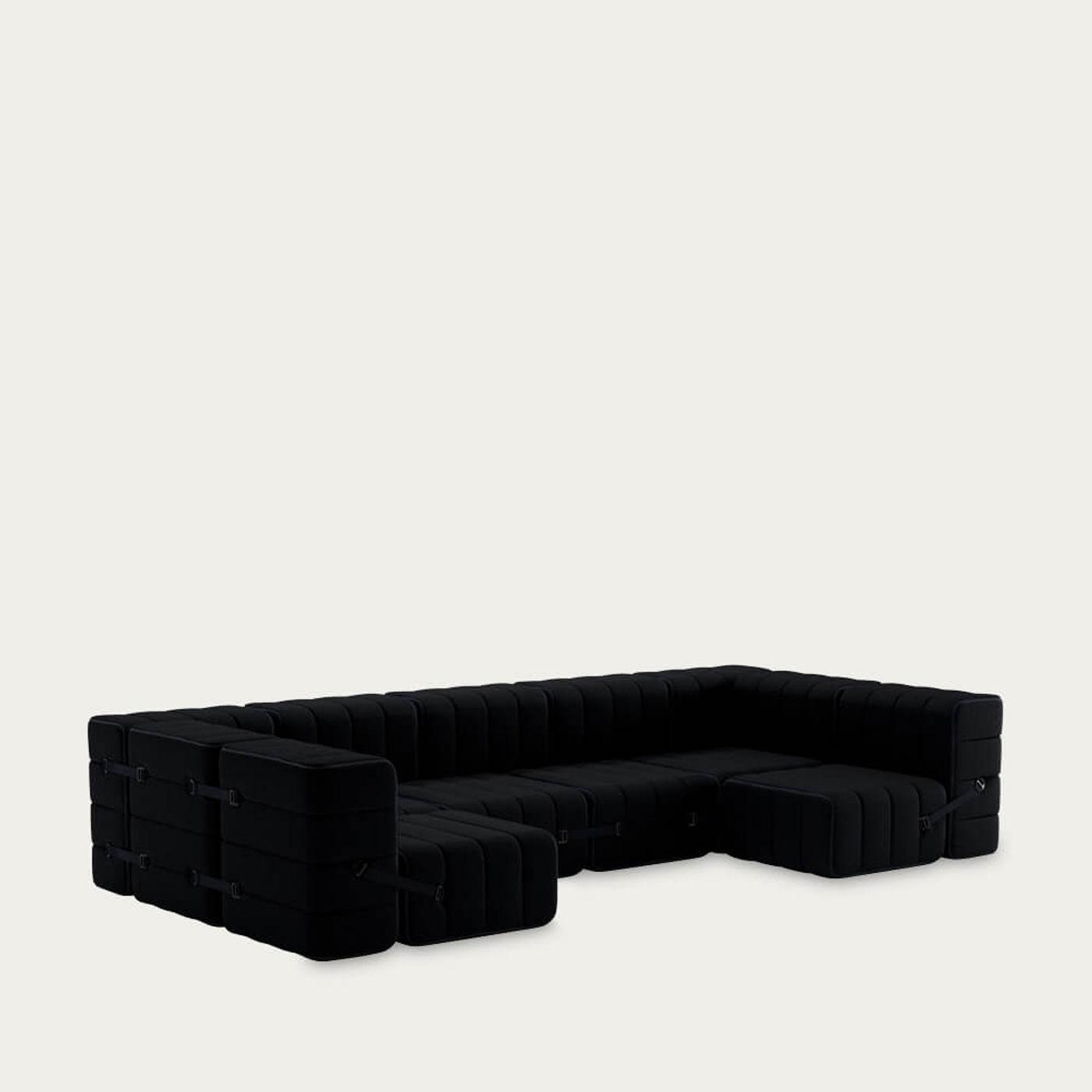 Black Curt Sofa System 15 Modules - Sera | Bombinate