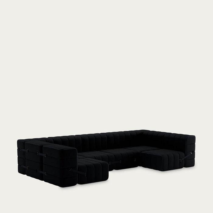 Black Curt Sofa System 15 Modules - Sera   Bombinate