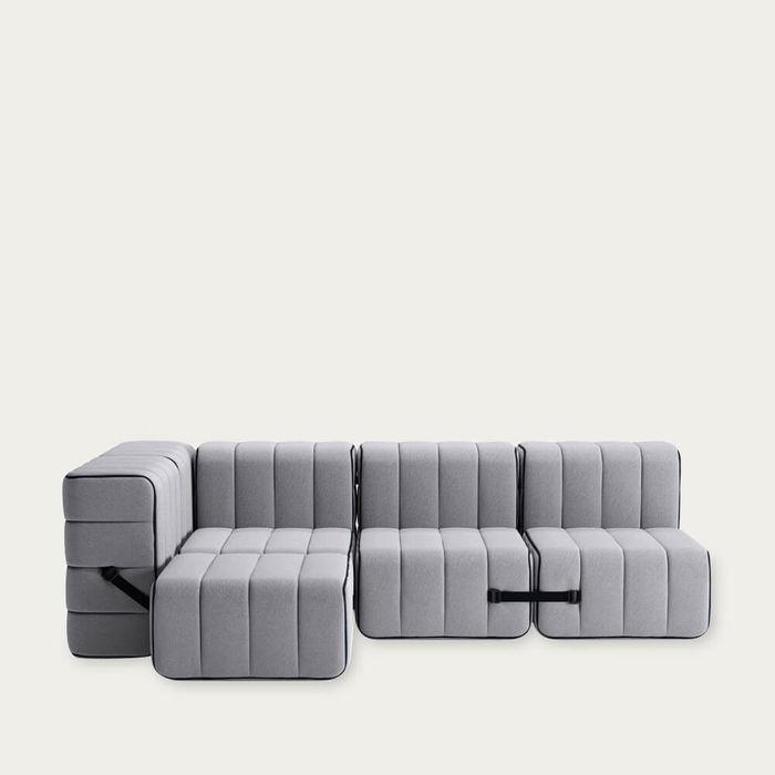 Grey Curt Sofa System 9 Modules - Jet | Bombinate