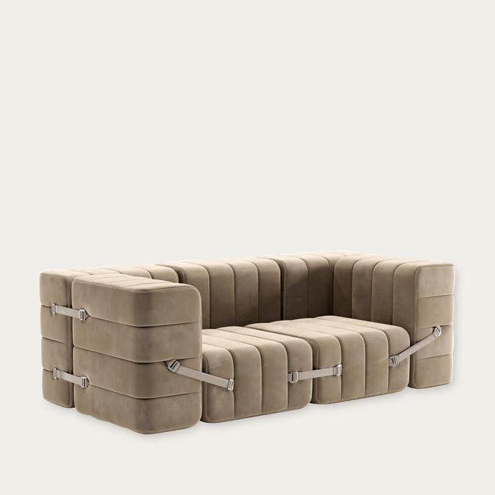 Brown Curt Sofa System 7 Modules - Barcelona | Bombinate