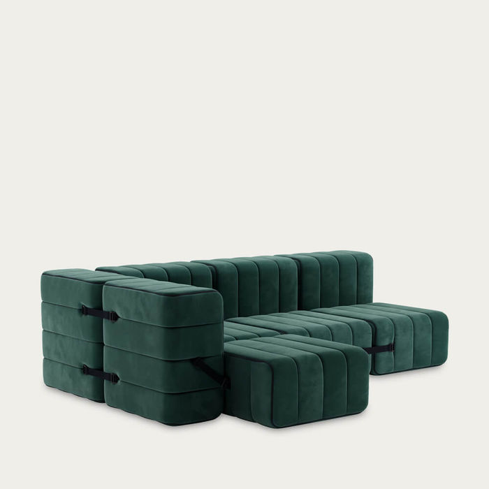 Green Curt Sofa System 9 Modules - Barcelona | Bombinate