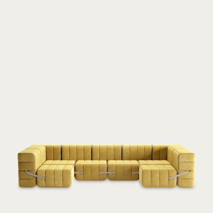 Yellow Curt Sofa System 15 Modules - Barcelona | Bombinate