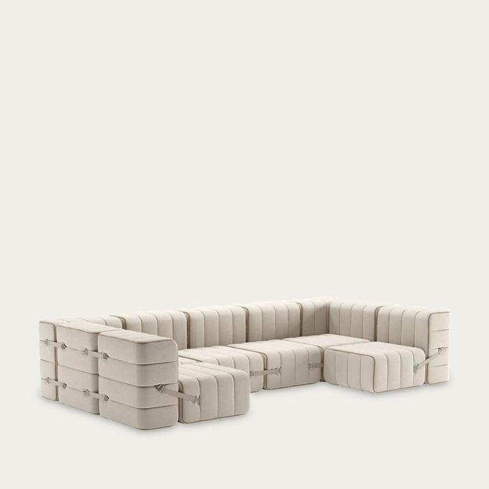 Beige Curt Sofa System 15 Modules - Sera | Bombinate